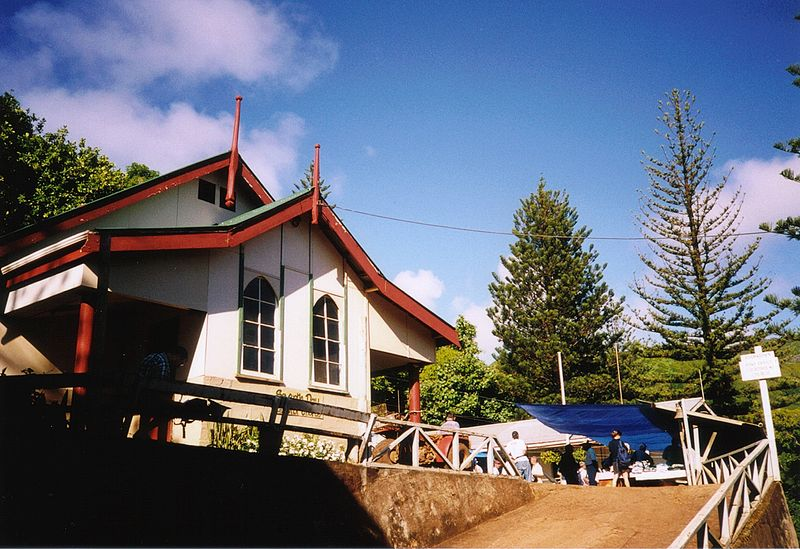 Adamstown - kilsə - Pitcairn adaları
