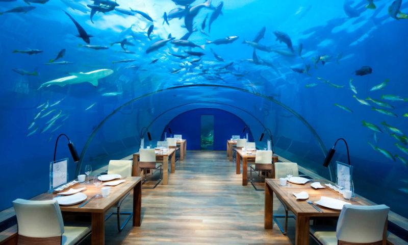 Conrad Maldives Hotel - suyun altında
