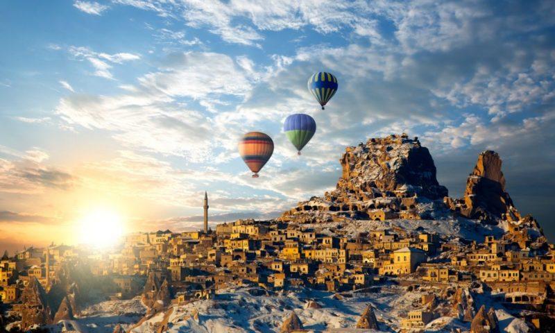 Fairy Chimney Inn - Turkiye - Kapadokiya - səmada gəzinti