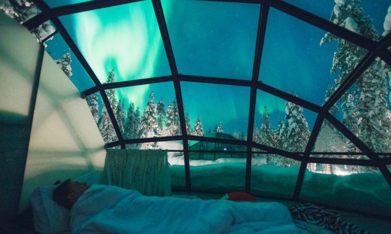 Kakslauttanen - Finlyandiya - otel otağı