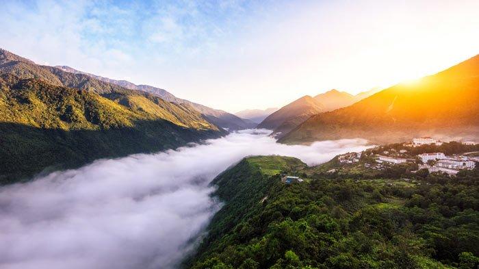 Mutuo - səhər açılır - Çinin Tibet dağları