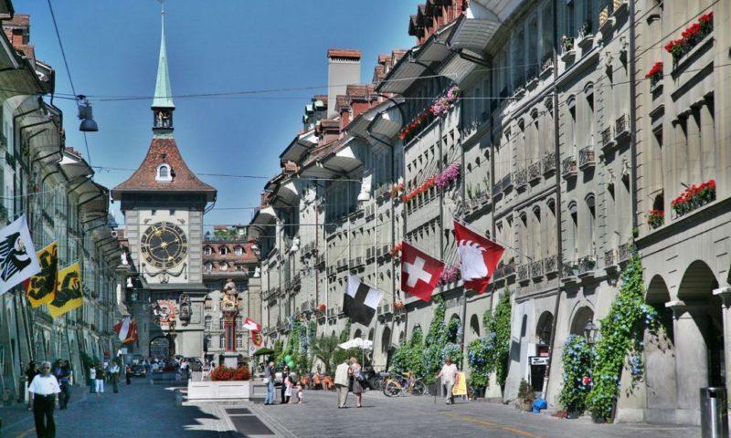 Bern, İsveçrə- şəhərdən görüntü