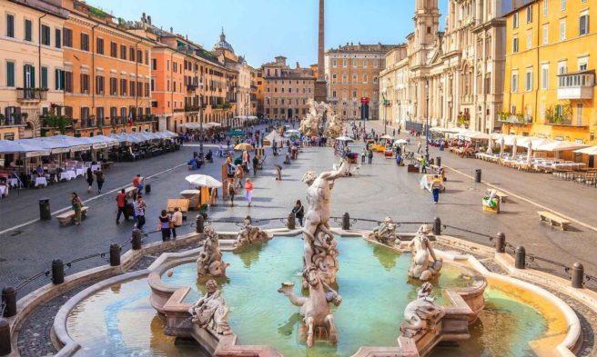 Piazza Navona meydanından görüntü